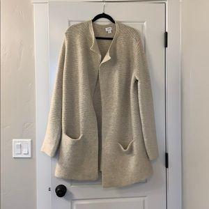 Old Navy Beige Tan Oversized Sweater